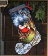 Santa's Flight stocking 70-08923 / Сапожок Полёт Санты