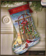 Christmas Sled Stocking 8819 / Сапожок Рождественские Сани