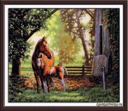Mare and Foal 35260  / Лошадь с жеребенком