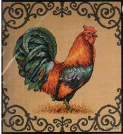 Ornate Rooster 035240 / Богато украшенный петух (США)